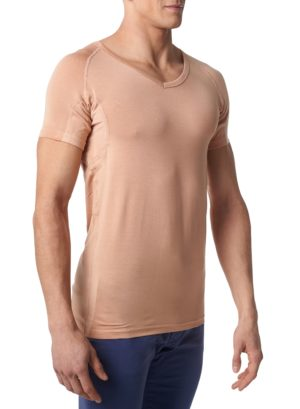 Neviditeľné tričko pod košeľu proti poteniu Gobi - Telové